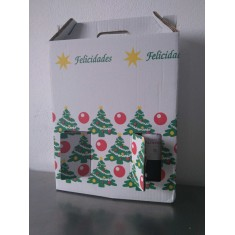 Vino tinto TORO-Duque de Valdeprada-3udsx0,75L+caja cartón navideña