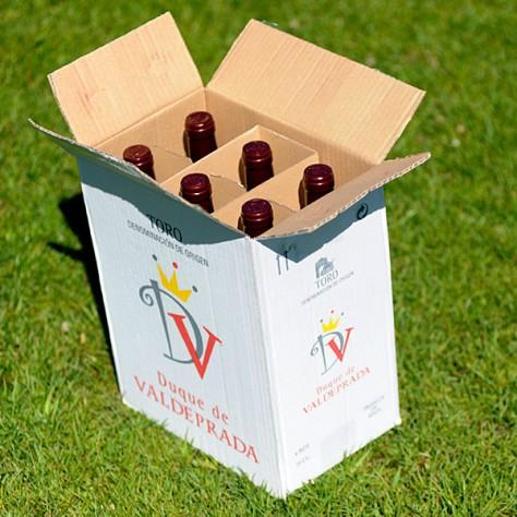 Vino tinto TORO - Duque de Valdeprada 6 unds x 0,75l + Caja Cartón